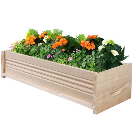 Greenes Fence 30 Inch Long Reversible Cedar Wood Planter Box