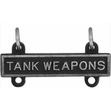 Metal Art Round Top (Army Qualification Bar Tank Weapons (Oxidized Finish) )