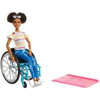 Barbie Fashionistas Doll, Brunette Hair with Wheelchair & Ramp