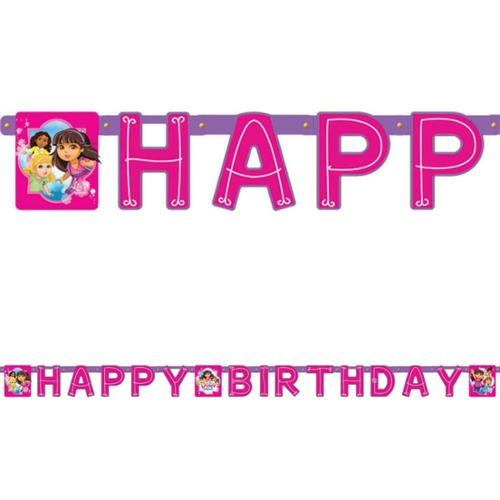 Dora and Friends Birthday Paper Banner (Each) - Party Supplies