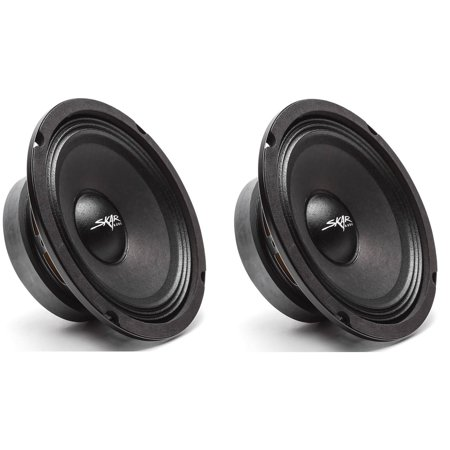 - (2) Skar Audio FSX65-8 300-Watt 6.5-Inch 8 Ohm Mid-Range Loudspeakers - 2 Speakers