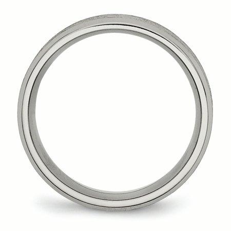 Titanium Beveled Edge 8mm Satin and Brushed Band TB13-11.5 - image 1 of 2