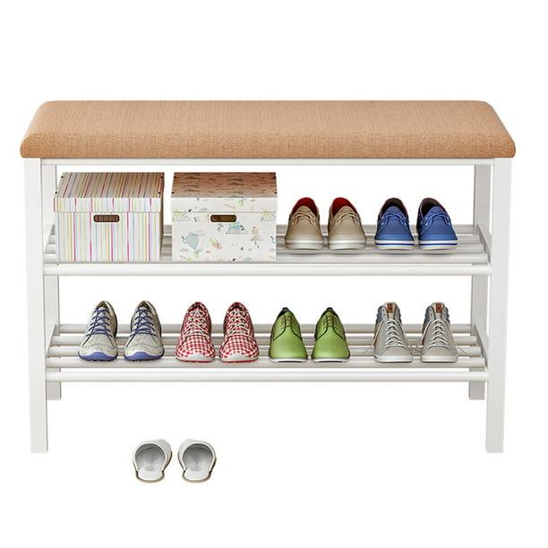 32 inch 2 Tier Home Storage Racks Seat Shoe Bench/Shoe rack with