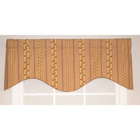 RLF HOME  Fleming Stripe Cornice Window Valance