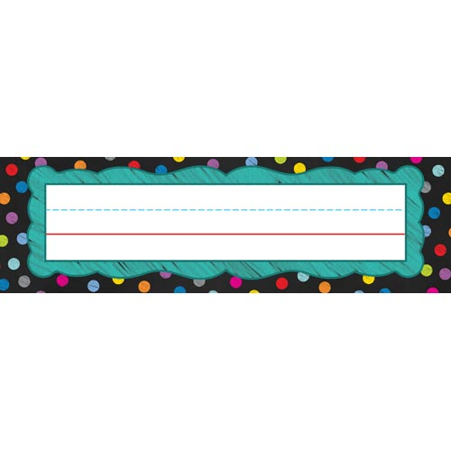 Colorful Chalkboard Nameplates by Carson-Dellosa by Colorful Chalkboard