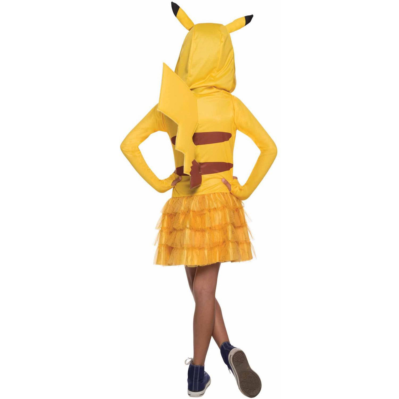 Pokemon Girls Pikachu Hoo Dress Small Walmart