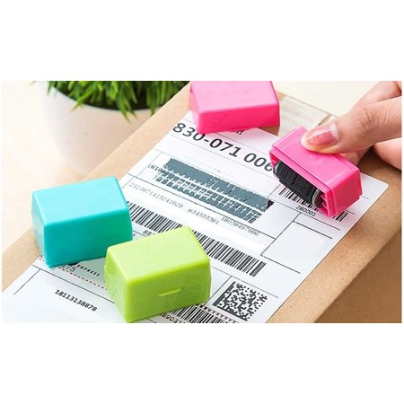 Identity Protection Security Self-Ink Rolling Stamp (3-Pack