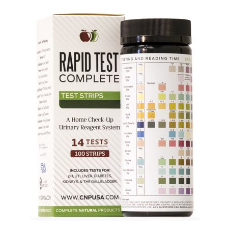 Rapid Test Complete - Urinalysis Test Strips 100 Tests UTI Strips, Kidney,  Gallbladder, pH, Glucose, and Liver Function