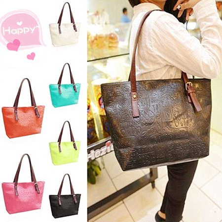 Fashion Women Shoulder Messenger Bag Lady Leather Classic Tote Handbag Satchel Purse Shopper Double Handle Shopper Tote