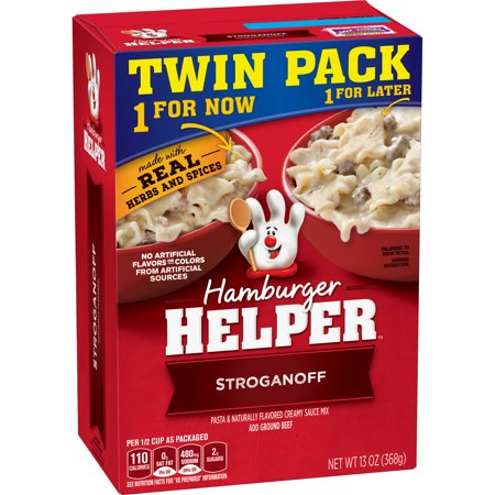 (3 Pack) Hamburger Helper Stroganoff Pasta & Creamy Sauce Mix 13 oz (Hamburger Usb)
