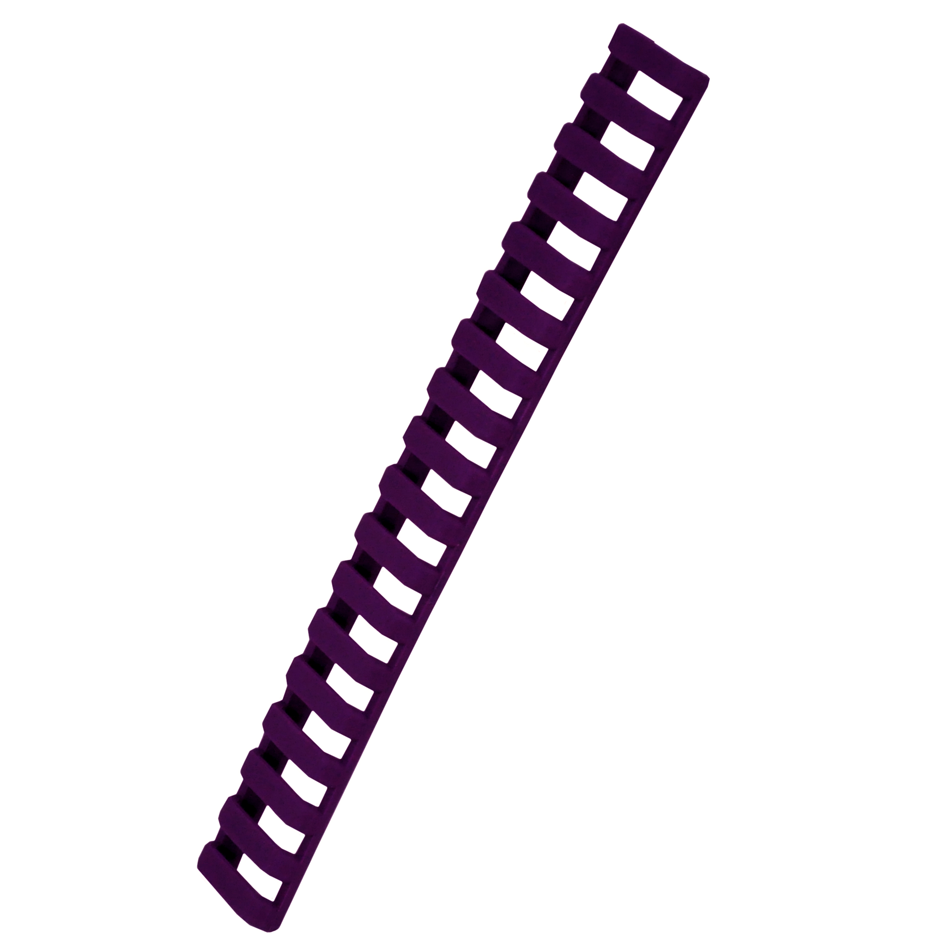 Ergo 18 Slot Ladder Low Pro Rail Covers Purple, Package of 1