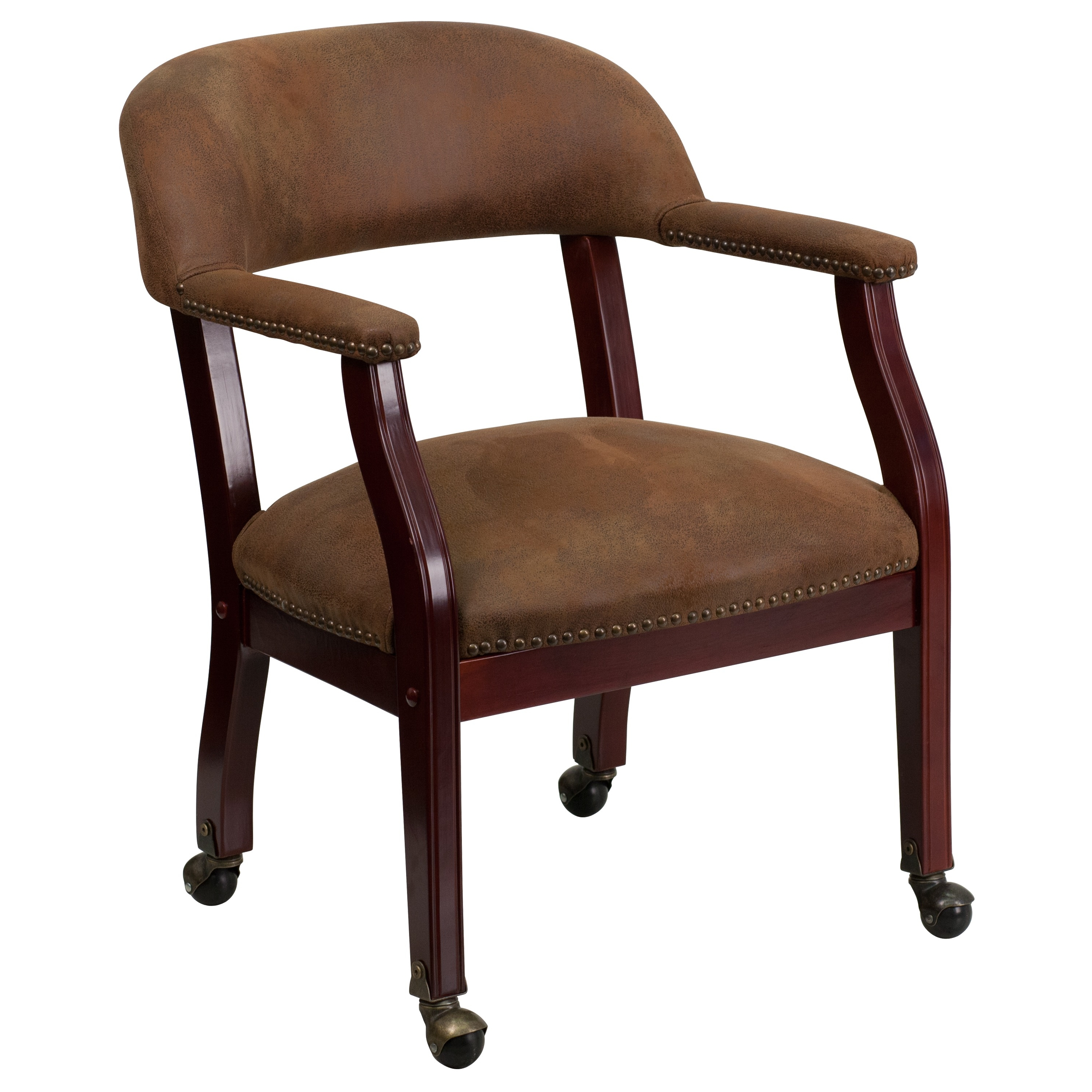 Flash Furniture Luxurious Conference Chair with Casters, Multiple Colors