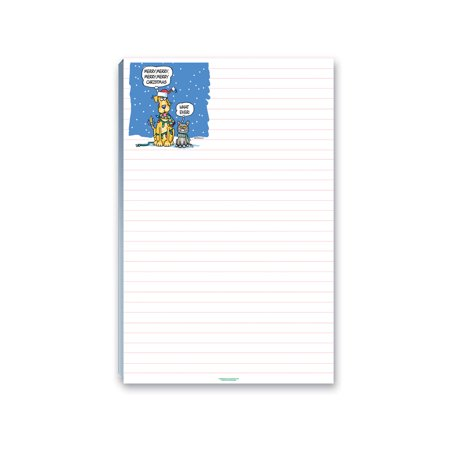 Holiday Notepads - 5.5 x 8.5 in. Funny Dog and Cat Christmas To-Do List Notepad - 45014 ()