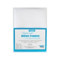 By Annie Mesh Fabric Lightweight 18x54 White