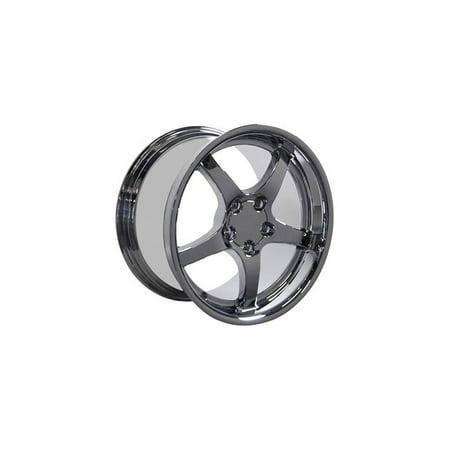 Eckler's Premier  Products 25320931 Corvette 18 X 10.5 C5 Style Deep Dish Reproduction Wheel Chrome
