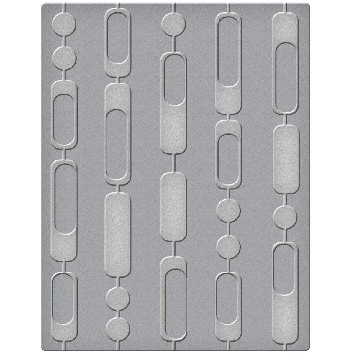 Spellbinders Embossing Folder, Small, Curtain Beads