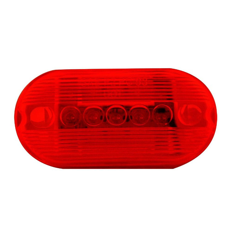Pilot Automotive NV-5095R 12 Volt 4 inch Oblong Side Marker/Clearance Light-Red Size: Size: 4 x 1-1/8 x 2