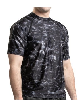 5ab8e18e6263a Product Image Aqua Design Men's Loose Fit Short Sleeve Sun Protection Rash  Guard Swim Surf Snorkel Shirt,