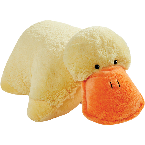 "Pillow Pets 18"" Signature Puffy Duck Stuffed Animal Plush Toy"