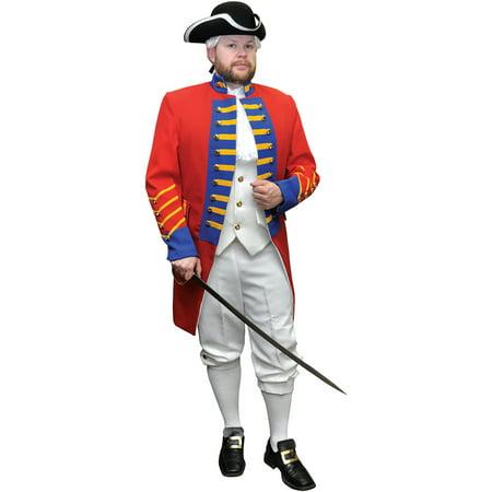 British Revolution Officer Adult Halloween - Revolution Halloween 2017