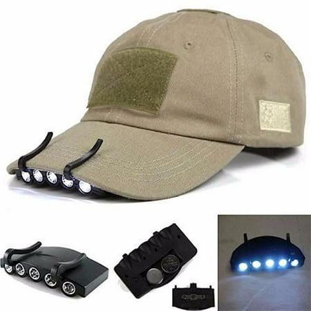5 LED Head Light Clip On HeadLamp Cap Torch Bulb (Led Cup Light)