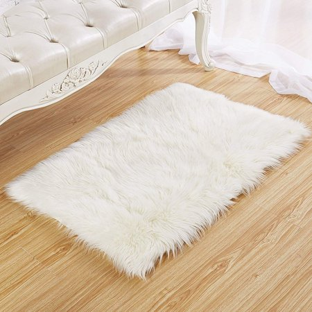 Faux Fur Rug 60 X 90 Cm Tayyakoushi Soft Fluffy Gy Rugs Sheepskin