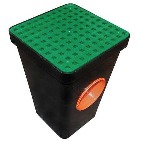 Plastic Drain Grate (TUF-TITE 2HDS-1G Two Hole Drain Sump w/Grate,Blk,Plastic )
