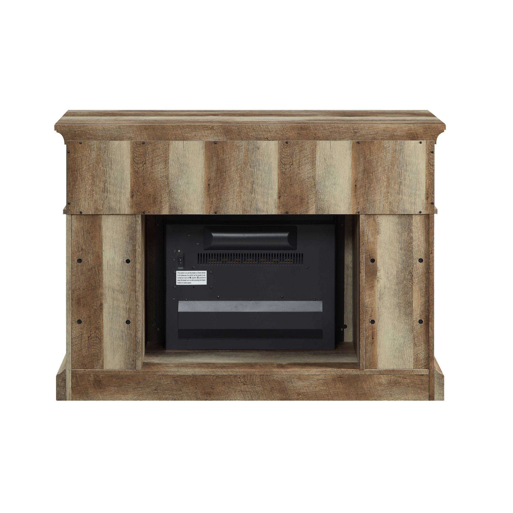 Weathered Rustic Electric Fireplace 55 Tv Stand Entertainment With