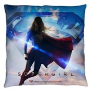 Supergirl Endless Sky Throw Pillow White 16X16