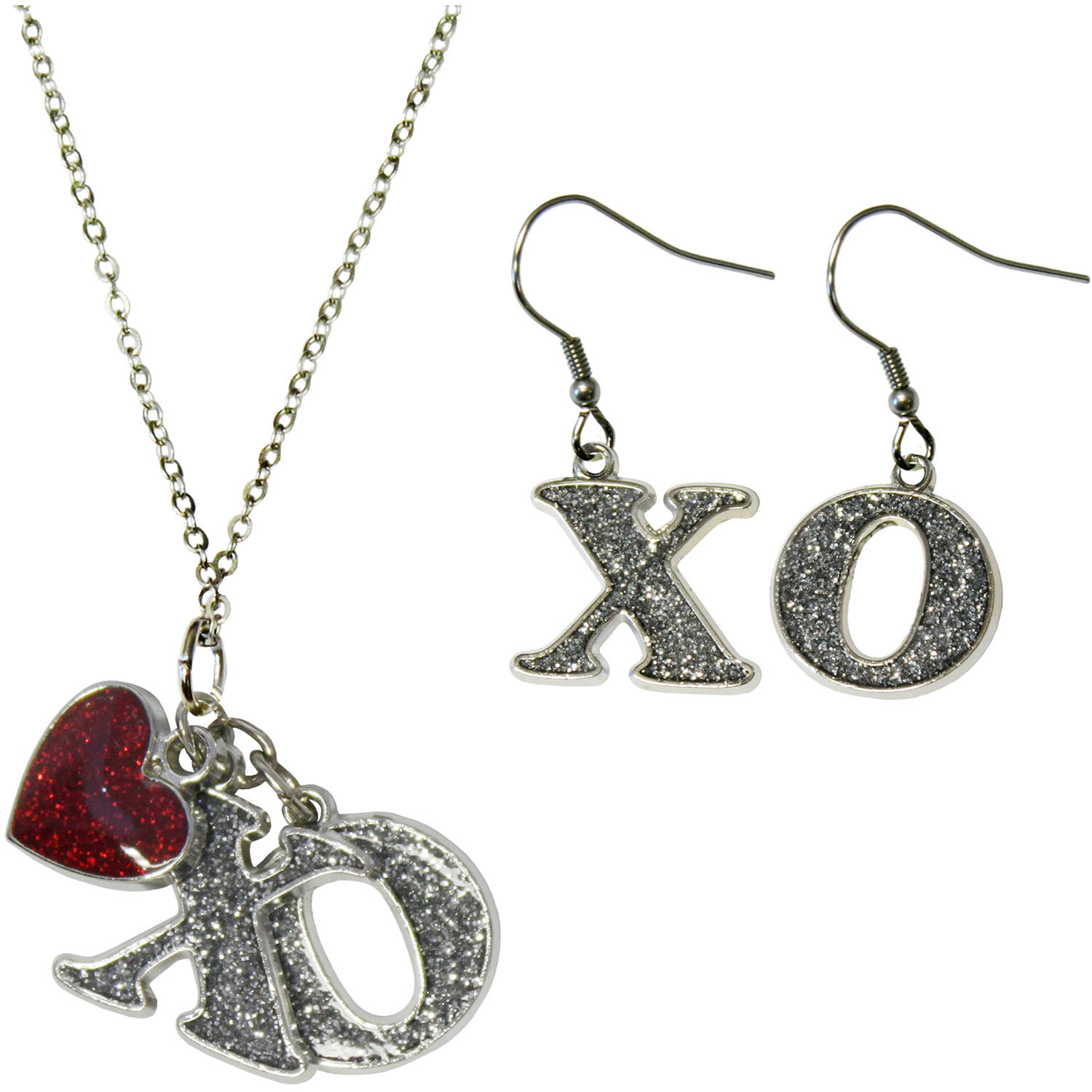 gloria duchin xo earrings and necklace jewelry set