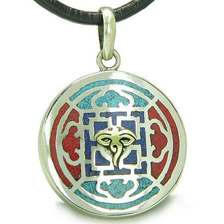 Amulet Ancient Tibetan Buddha All Seeing Eye And Rdo Rje Symbol