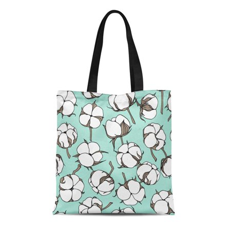 LADDKE Canvas Tote Bag Agriculture Flowers Beautiful Floral and Patterns Bio Bloom Blossom Reusable Shoulder Grocery Shopping Bags Handbag