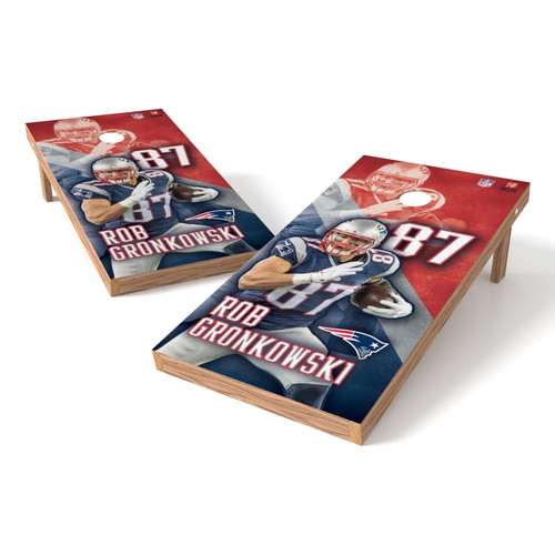Tailgate Toss NFL New England Patriots Rob Gronkowski Cornhole Game Set