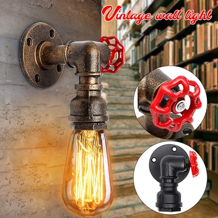 E27 Lighting Retro Vintage Industrial Edison Style Iron Wall Lamp Sconce Light Fixture Fitting for Bedroom/Cafe/Restaurant/Porch/Aisle/Bar/Balcony Decor