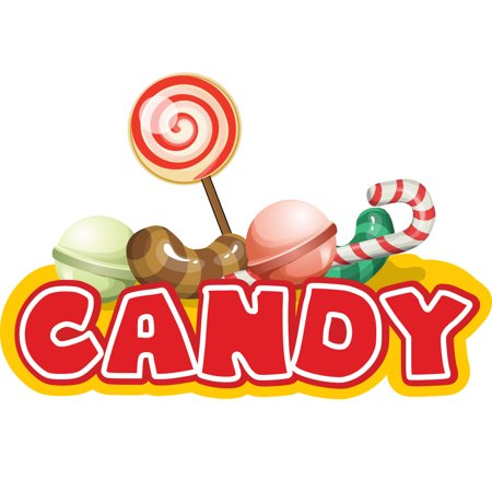 candy bars Concession Decal sign cart trailer stand sticker equipment