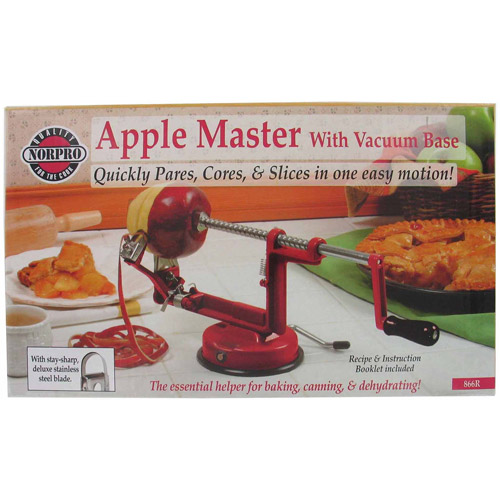 Norpro Red Apple Master with Vacuum Base