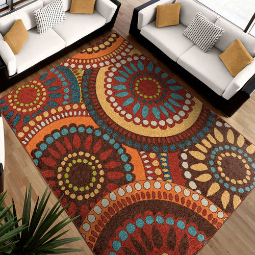 Attractive Orian Rugs Geo Pinwheel Area Rug Or Runner