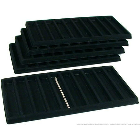 50 Slot Bracelet & Watch Display Tray Black Showcase ()