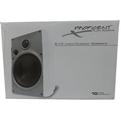 """Proficient Audio Systems 5.25"""" Indoor/Outdoor Speakers"""