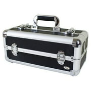 Jacki Design Carrying Aluminum Makeup or Salon Flat Train Case with Expandable Trays