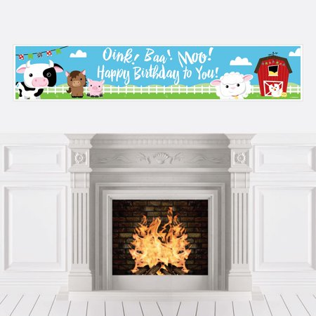 Farm Animals - Party Decorations - Birthday Party Banner