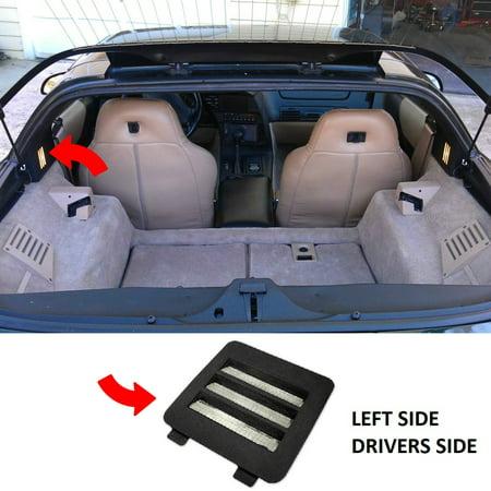Custom Corvette Interior (C4 Corvette Coupe Interior Courtesy Light Bezel and Lens Left Side Fits: 84-96 Corvette)