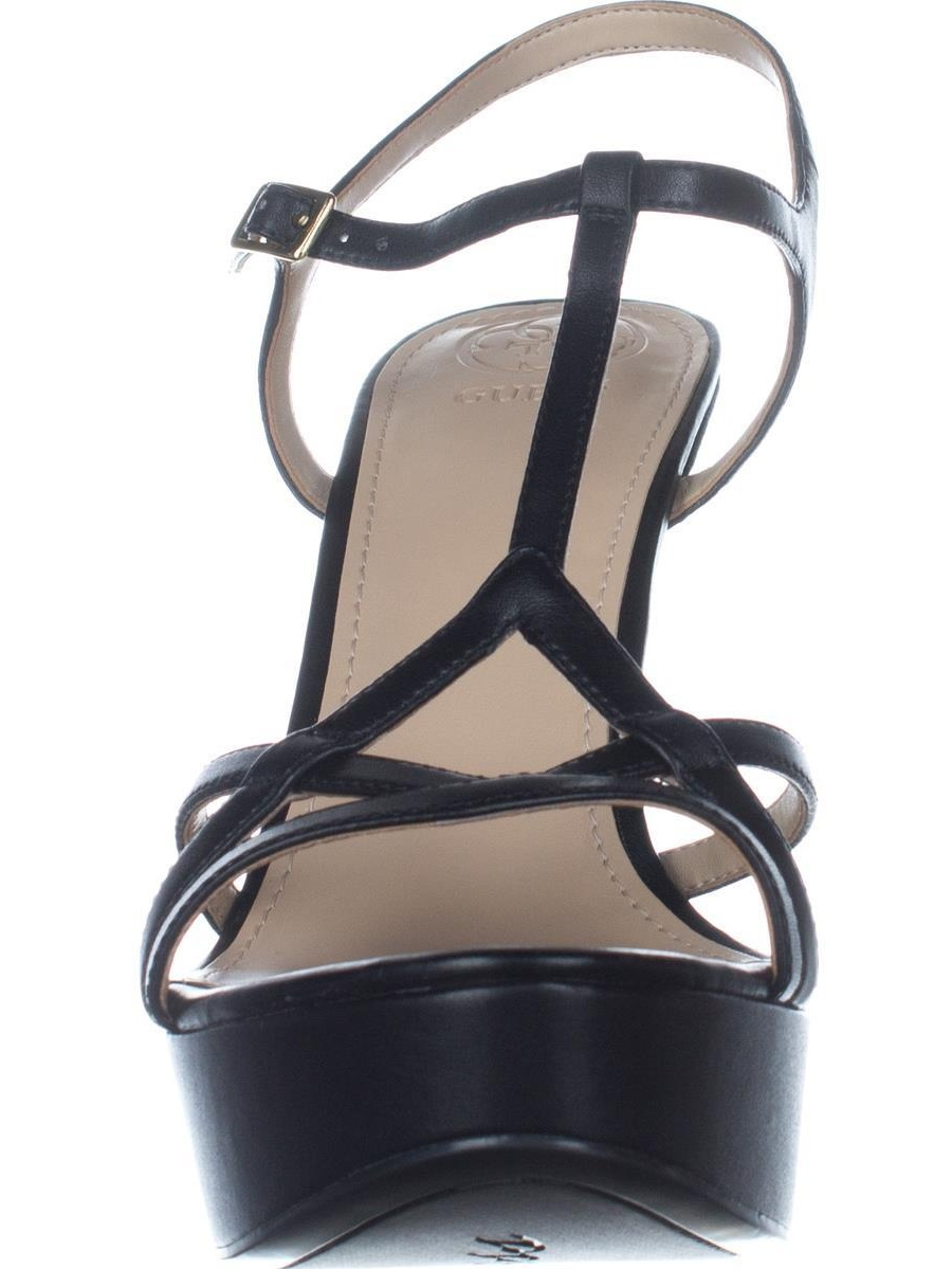 93a2f76368f262 GUESS - Womens Guess Keiry3 T-Strap Platform Sandals