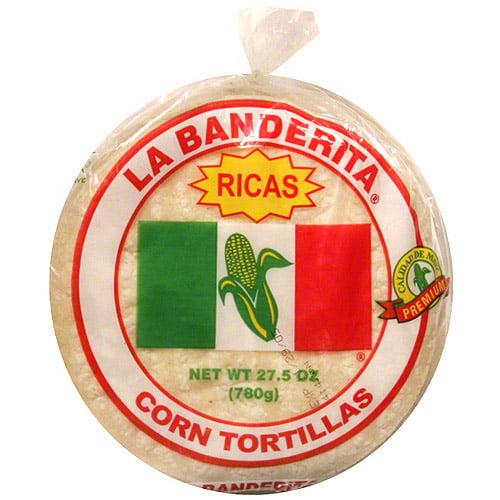 La Banderita White Corn Tortillas, 30ct (Pack of 12)