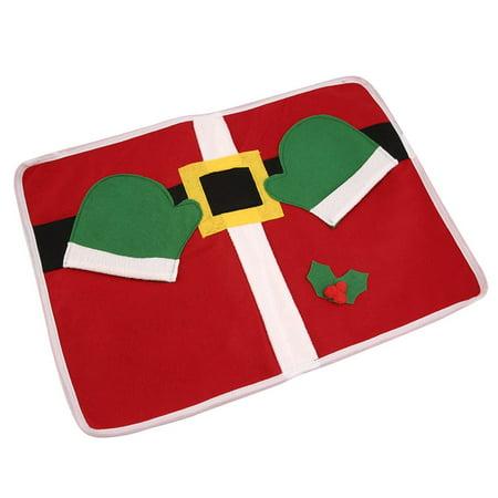 Christmas Santa Cloth Placemat Table Cushion Cover Decor