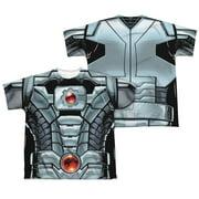Jla - Cyborg (Front/Back Print) - Youth Short Sleeve Shirt - Medium