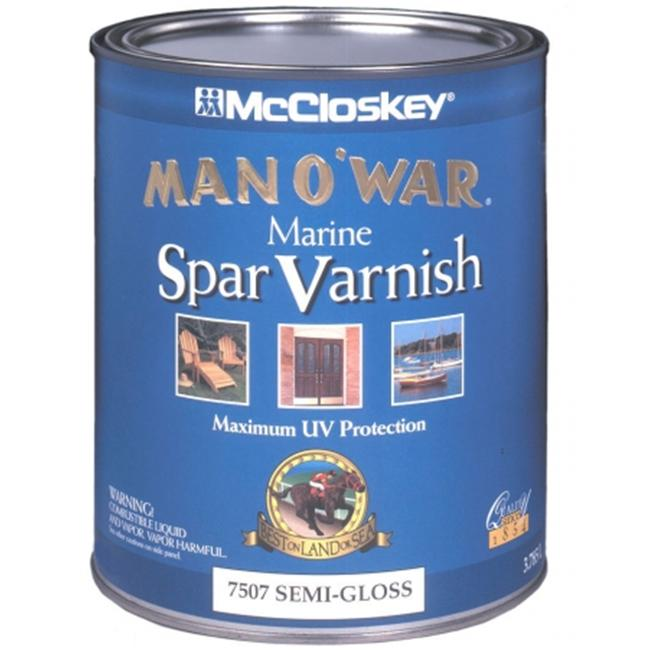 Valspar Brand 1 Quart Semi-Gloss Man O War Marine Spar Varnish Low VOC  80-653