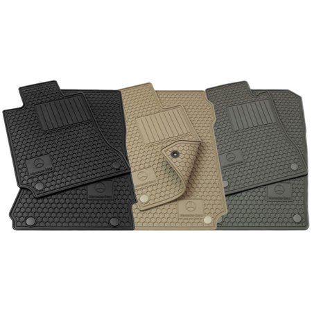 Mercedes Benz Q6680687 Genuine ML ML320 ML350 ML450 ML500 ML550 ML55 ML63 Beige All Weather Mat 6680687 06-11 Set of