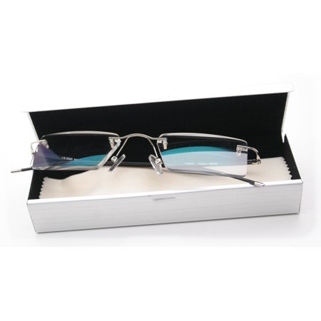 Semi Rimless Readers (V.W.E. Thin Rectangle Rimless Readers with Anti-Reflective AR Coating )