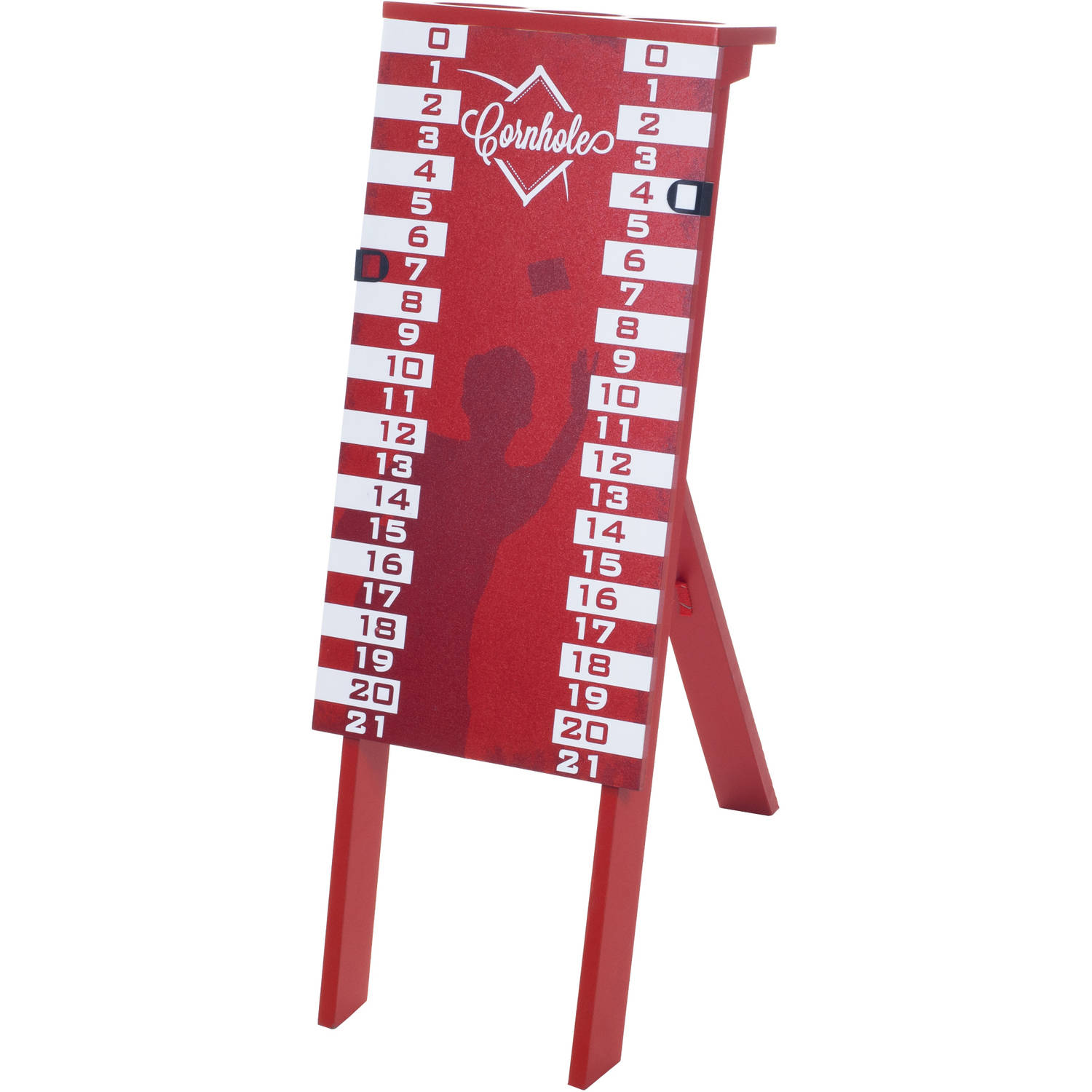 Cornhole Scoreboard and Cup Holder, Red